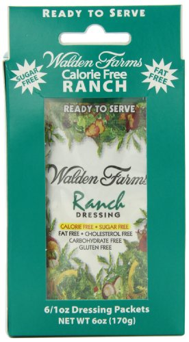 Walden Farms Dressing, Ranch, 1 Ounce (Pack of 6)