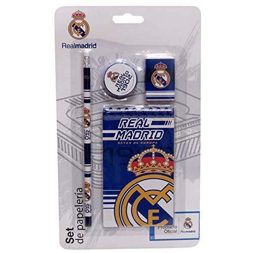 Real Madrid Set de Papelería con Bloc Sets