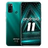 "Cellulari Offerta Ulefone Note 10 Smartphone 2021 Android 11, 32GB ROM 128GB Espandibili, Batteria 5500mAh, Display 6,52"", Android 11, 2x8MP+ 2x2MP Fotocamera,Dual SIM 4G,Octa-core,Face Unlock,Verde"