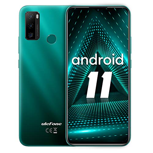 Telefonos movil Libres Baratos,Ulefone Note 10 moviles Android 11,Batería 5500mAh Pantalla 6,52 HD+ 4G Smartphone, cámara de 8MP+2MP+2MP Ranura para 3 Tarjetas Face ID,OTG(Verde)