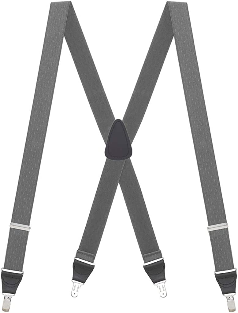 SuspenderStore Selling and selling Men's Jacquard Checkered - Suspenders CLIP Miami Mall