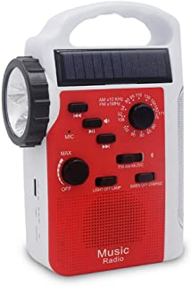 QYEND Bluetooth Speaker,AM/FM Solar Crank Radio,Solar Weather Radio with Flashlight,Support SD Card (TF Card) Playback for Hazard Weather and Outdoor Activitives