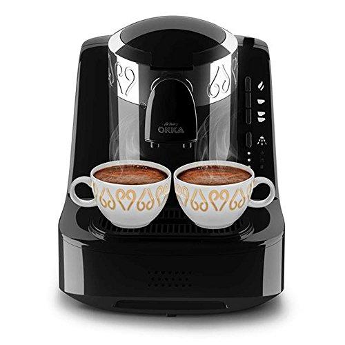 Arzum Okka Kaffemaschine Hochwertige Moderne Turkische Mokka Maschine  OK001b Schwarz/Kupfer, Farbe:Schwarz, Edelstahl