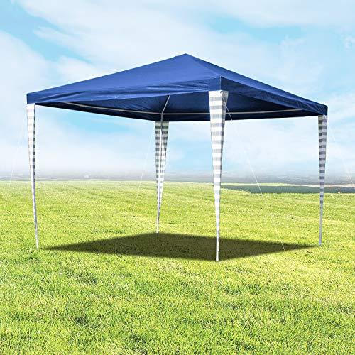 wolketon Pavillon 3 x 3 m Partyzelt für Garten Terrasse Markt Camping Festival als Unterstand Gartenpavillon Blau Zelt