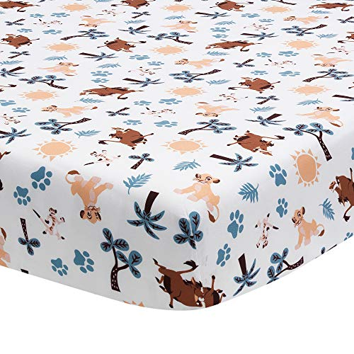 Lambs & Ivy Lion King Adventure Fitted Crib Sheet, Multicol