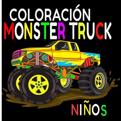 Coloración Monster Truck Niños: Dibujos para colorear de Monster Truck / Para los niños que aman las ruedas de la fortuna / Todos los estilos de ilustración para una gran creatividad
