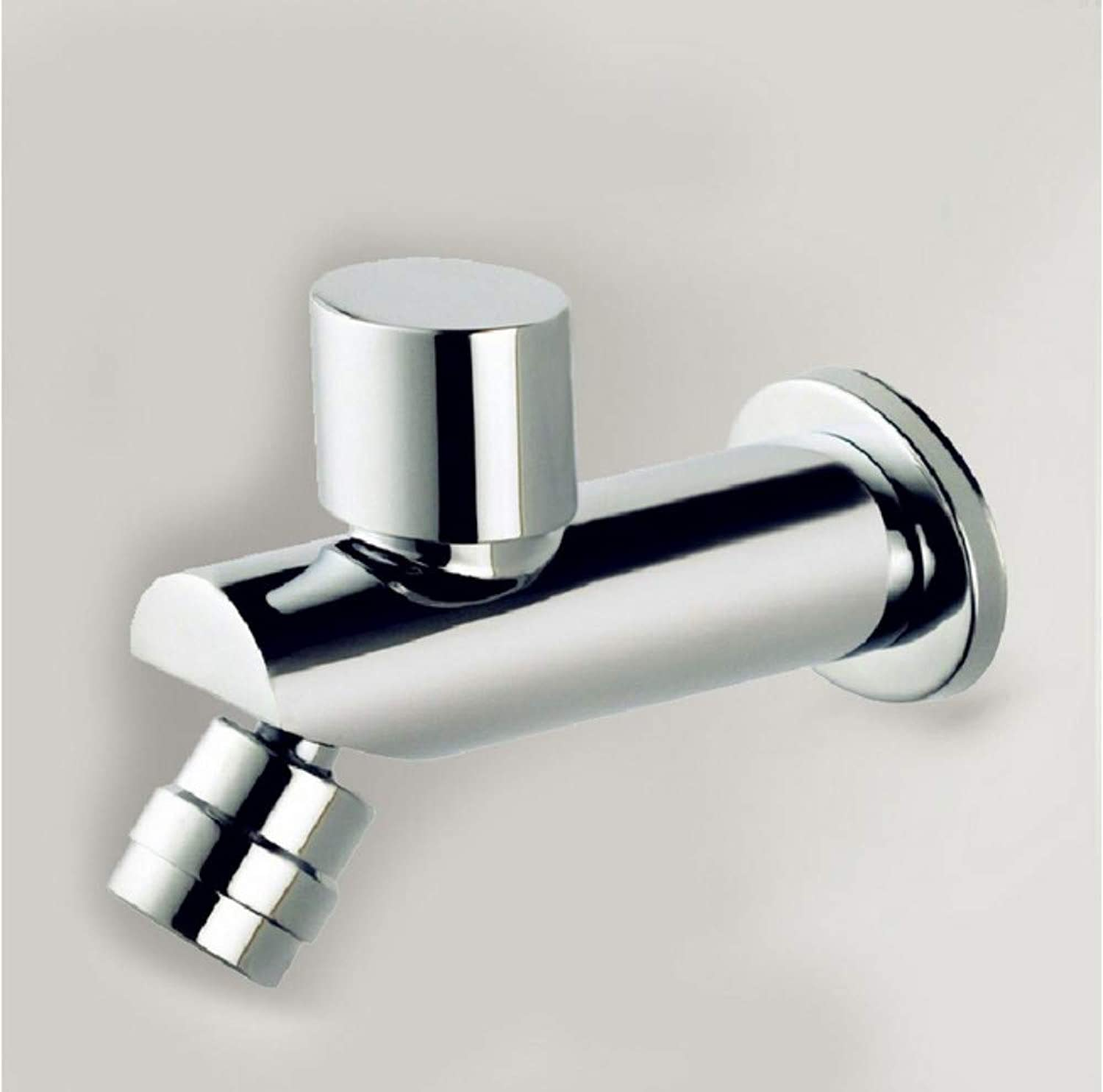 LLLYZZ Brass Cold Water Faucet, Wall Mounted Basin Tap Bibcock Cold Faucet