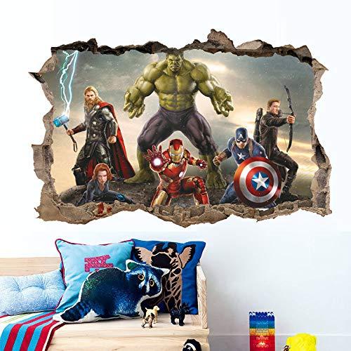Hulk Iron Man Capitán América Thor Pegatinas de pared extraíbles Calcomanía Niños Casa Decoración Cuarto del bebé Niños niñas Guardería