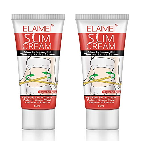 Hot Cream, 2 Pack Professional Cellulite Slimming & Firming Cream, Body Fat Burning Massage Gel, Slim Serum for Shaping Waist, Abdomen and Buttocks