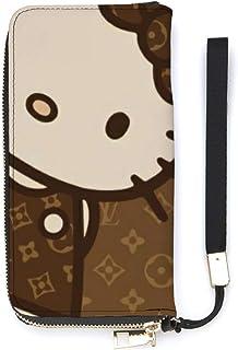 Hello Kitty 長財布 本革 レザー ウォレット 小銭入れ付 レディース 大容量 スマホ入れ 手触り良い プレゼント コンパクト ウォレット サイフ メンズ レディース 薄型二つ折り財布