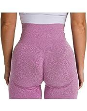 Vobery Shorts för kvinnor hög midja rumpa lyfter yogabyxor anti-celluliter träning leggings magkontroll yoga tights