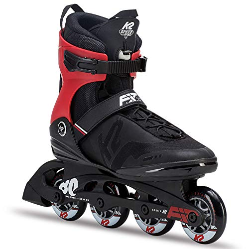 K2 Herren Fitness Inline Skates F.I.T. 80 Pro - Schwarz - EU: 43.5 (US: 10 - UK: 9) - 30C0716.1.1.100