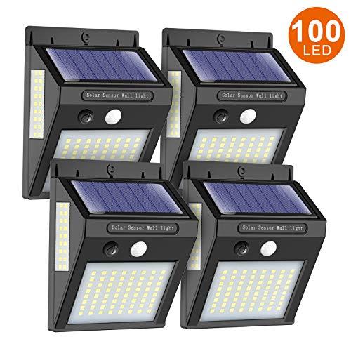 ERAY Solarlampen für Außen mit Bewegungsmelder, Solarleuchten für Außen 100 LEDs / 1000 Lumen / 2200mAh / IP65 Wasserdicht / 270°, Umweltfreundlich & Stromsparend, Solarlampen für Garten, Garage