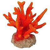 Aqua Della Coral Seriatopora - Decoración para Acuario, Color Naranja