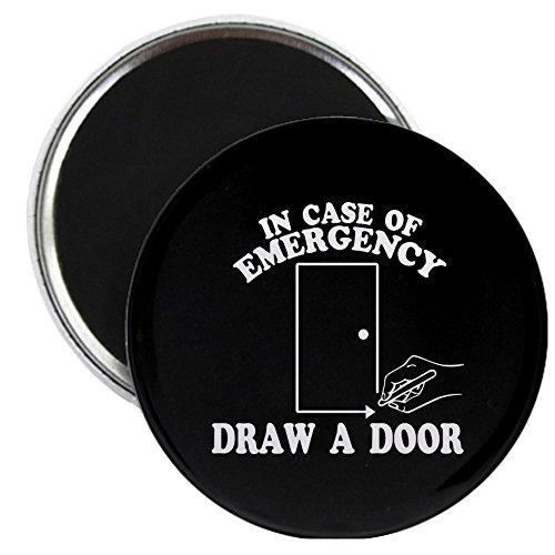 CafePress–ziehe eine Tür Beetlejuice–5,7cm rund Magnet, Kühlschrank Magnet, Button Magnet Stil