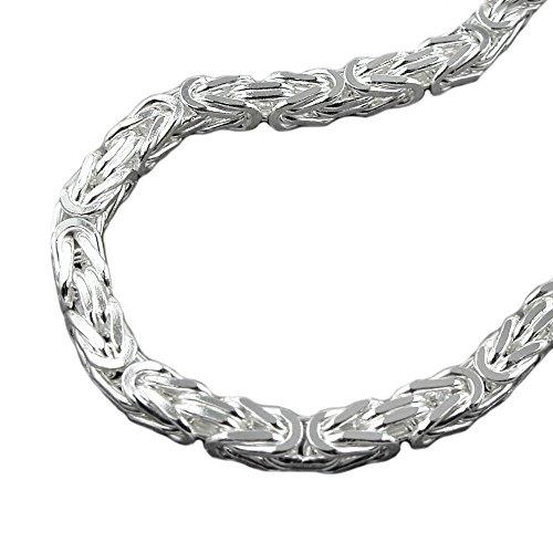 Kette 8mm Königskette vierkant glänzend Silber 925 60cm