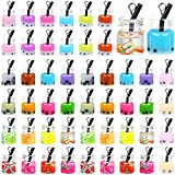 48 Pieces Milk Tea Charms Boba Charms Glass Bottle Charm Pendant Fruit Charms Earrings for Necklace Jewelry Key Chain DIY Crafts, 24 Styles (0.98 x 0.39 Inch)