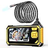YINAMA Endoscopio Industriale, 1080P HD Telecamera Ispezione 4.3 Pollici Schermo LCD Boroscopio Snake Telecamera Impermeabile, 6 LED, Cavo Semirigido, Scheda TF da 32 GB Strumenti (5M)
