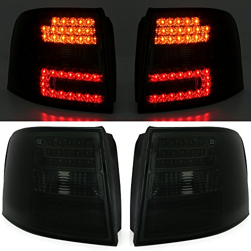 AD Tuning GmbH & Co. KG 960857 - Lot de phares à KED, Feux arrière, Verre Transparent, Noirs