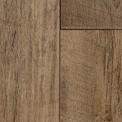 PVC Bodenbelag Landhausdiele Eiche Grau | Vinylboden in 2m Breite & 2m Länge | Fußbodenheizung geeignet | Vinyl Planken strapazierfähig & pflegeleicht | Fußbodenbelag Gewerbe/Wohnbereich