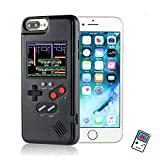 YLANK Gameboy Case for iPhone, Retro 3D Gameboy Design Style Silicone Cover Case with 36 Classic Retro Games,Color Screen Game Cover Case for iPhone X/Xmax,iPhone 6/7/8/Plus (Black, IPHONE6/6S/7/8)