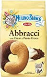 Mulino Bianco Biscotti Frollini Abbracci con Cacao e Panna Fresca, Senza Olio di Palma, Colazione Ricca di Gusto, 350 g