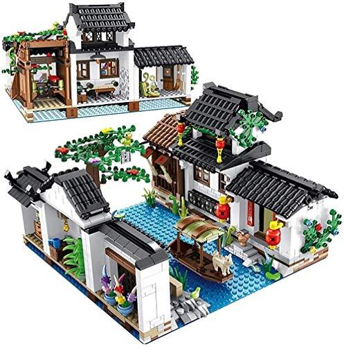 hsj Jeu de Construction, IArchitecture Jiangnan, Ville d'eau des Blocs de Construction Briques Maison Jouets, for Adultes et Enfants Exécution exquise