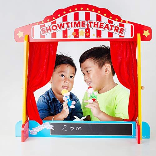 Bigjigs Toys BJ339 Holztisch-Theater, Puppen-Show, Fingerpuppen