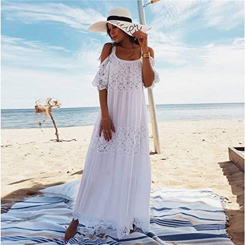 ISKER Badpak Print Lace-up Cover Up Vrouwen Wit Bikini Blouse Halter Top Strandkleding Off Shoulder Beach Dress Vrouw Zomer Badmode Tuniek