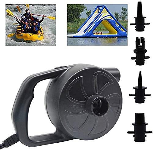 Air Pump for Inflatables Air Mattress Pump Air Bed Pool Toy Raft Boat Quick Electric Air Pump Black (AC Pump(300W))