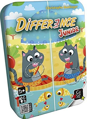 GIGAMIC - GMJD - Jeu de Carte - Difference Junior