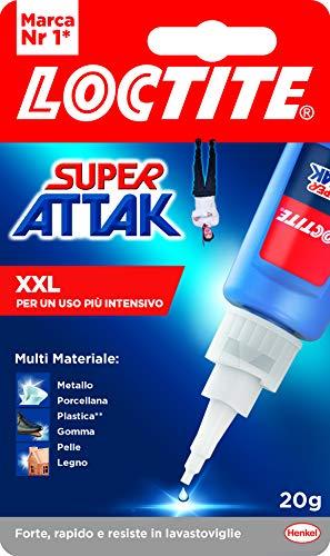 Loctite Super Attak XXL 20 g, Colla Liquida Trasparente per Usi Precisi, Colla Universale Istantanea, Colla Forte e Resistente, 1 x 20 g