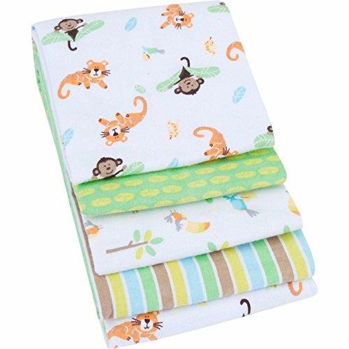 Garanimals 4-Pack Receiving Blankets, Green