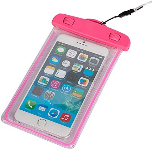 MaximalPower Waterproof Case for Smartphone - Retail Packaging - Pink