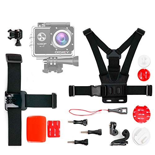 DURAGADGET Kit de Accesorios para Cámara Deportiva ORSKEY R11, TOPOP GDTPOD009AB-DEAE1, Vbestlife Mini DV Sports Camera