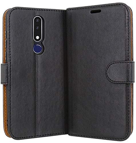 Case Collection Hochwertige Leder hülle für Nokia 3.1 Plus Hülle (6,0