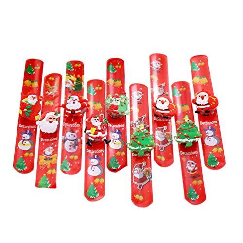 Toddmomy Pulseras de Bofetada Navideña Brazalete Iluminado Iluminación Brillante de Navidad Muñequeras Muñequeras Regalos para Niños Regalos de Fiesta de Vacaciones (Estilo Aleatorio) 9