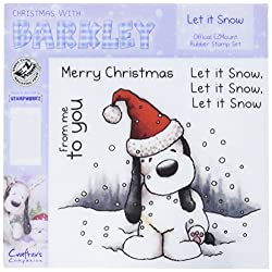 Barkley EZMount Christmas Cling Stamp Set, 4.75 by 4.75-Inch, Let it Snow