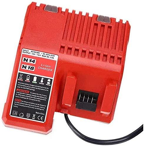 Ersatz Ladegerät für Milwaukee M18-18V M12, M18, 48-59-1806, 48-59-1840, Batterie Ladegerät Werkzeugakkus(EU-Stecker)