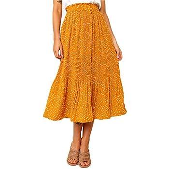 Best mustard maxi skirt Reviews