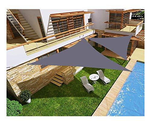 'N/A' Toldo Vela Triangular, toldo Impermeable para terraza jardín, protección UV, con Cuerda Libre, Gris(Size:2×2×2m,Color:Gris)