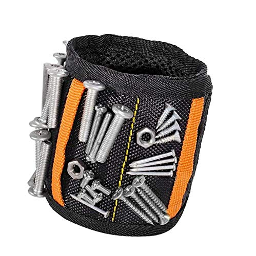 Magnetic Wristband Best DIY Gift with 15 Powerful Magnets Magnetic Tool Wristband Tool Belt for Holding Tools, Nails, Drill Bits, Gadgets for Men, DIY Handyman