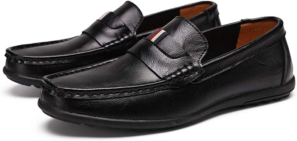 Yuper Men's Casual Leather Loafers Walking Shoes Light S 2021new shipping free Fashion Dallas Mall