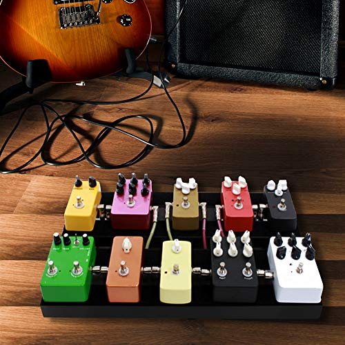 Wosume 【𝐕𝐞𝐧𝐭𝐚 𝐑𝐞𝐠𝐚𝐥𝐨 𝐏𝐫𝐢𝐦𝐚𝒗𝐞𝐫𝐚】 Tablero de Pedales de Efectos con Abrazadera de Cinta de configuración para Pedal de Efecto de Guitarra eléctrica(Small)