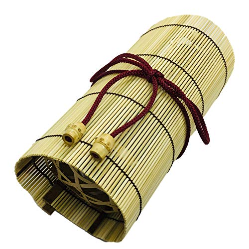 Bamboo Japanese Lunch Box for Rice Ball Omusubi in Basket with a String 7.4 x 3.3 x 2.9 inches From Japan by BambooParkJapan