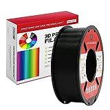 XTZL3D Filamento de impresora 3D PLA de 1,75 mm, filamento de impresión PLA 3D para impresoras 3D y bolígrafos 3D, precisión dimensional +/- 0,02 mm, 1 kg 1 bobina (negro) mm, 1 kg 1 bobina(Negro)