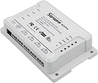Sonoff 4CH Pro R2 Wi-Fi Smart Switch 4-Gang Din Rail...