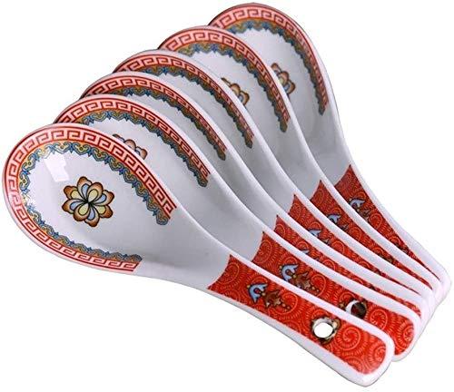JDTBYMXX Cucharada de cucharadita de 6 cucharas de sopa de cerámica, cucharas...