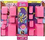 Barbie Color Reveal Deluxe poupée avec 25 éléments mystère, 15 sachets surprise, thème carnaval & concert, jouet pour enfant, GPD57
