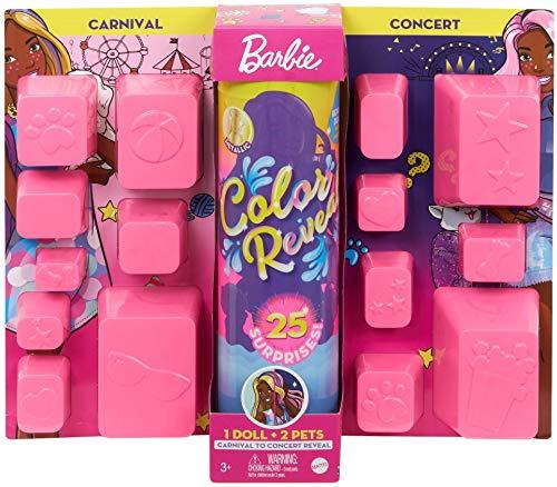 Barbie Color Reveal Deluxe poupée avec 25 éléments mystère,